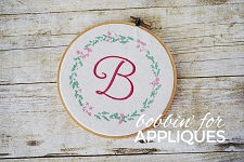 Dainty Floral Frame Cross Stitch ITH Machine Embroidery Pattern